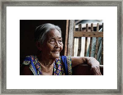 Filipino Lola - Image Number Fourteen  Framed Print by James BO  Insogna