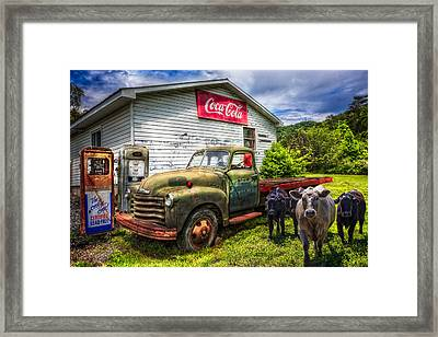 Fill 'er Up? Framed Print by Debra and Dave Vanderlaan