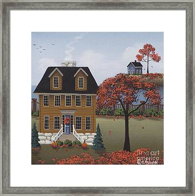 Fill Our Hearts With Thankfulness Framed Print by Catherine Holman