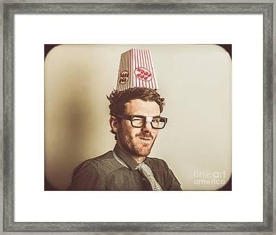 Film Critic Nerd Framed Print by Jorgo Photography - Wall Art Gallery