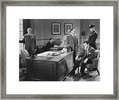 Film Still Office Arrest Framed Print by Underwood Archives