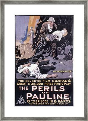 Film: The Perils Of Pauline Framed Print by Granger