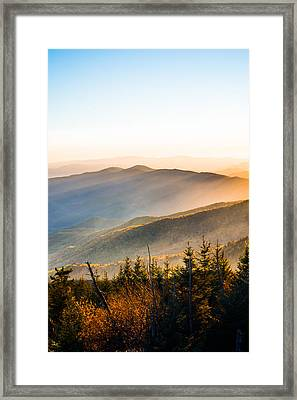Filtering Light Over The Mountains Framed Print by Shelby Young