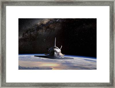 Final Frontier Framed Print by Peter Chilelli