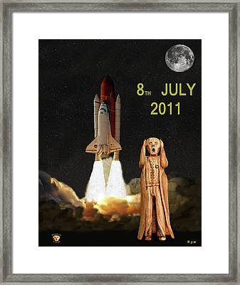 Final Shuttle Mission 8th July 2011 Framed Print by Eric Kempson