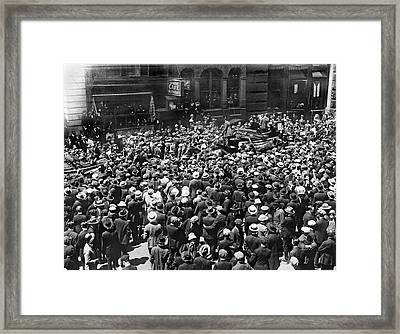 Financial District Showgirls Framed Print by Underwood Archives