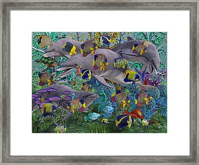 Find The Sea Dragon Framed Print by Betsy Knapp