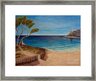 Finding My Special Place In The Summertime  Framed Print by Kimberlee Baxter