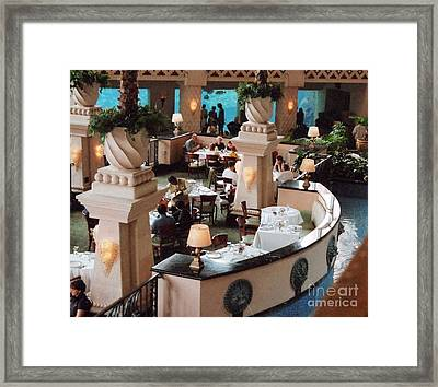 Fine Restaurant With Atlantis Aquarium Framed Print by Kay Novy
