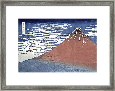 Fine Weather With South Wind Framed Print by Hokusai