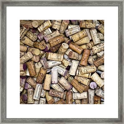 Fine Wine Corks Square Framed Print by Frank Tschakert