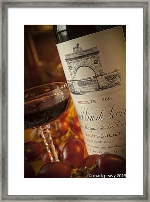 Fine Wine Framed Print by Mark Peavy