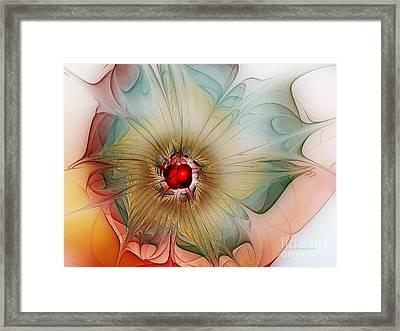Finely Spruced Flower Framed Print by Karin Kuhlmann