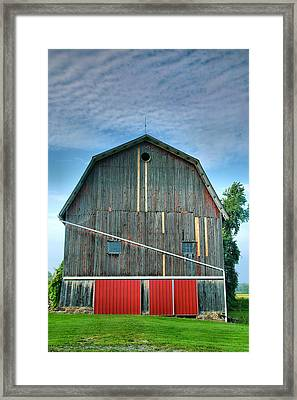 Finger Lakes Barn Iv Framed Print by Steven Ainsworth