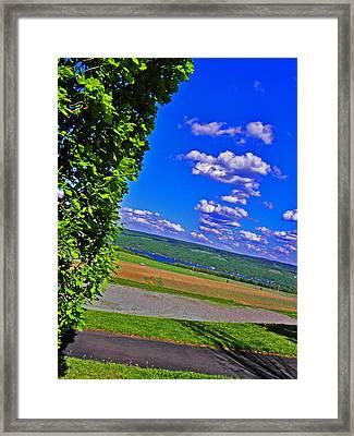 Finger Lakes Country Framed Print by Elizabeth Hoskinson