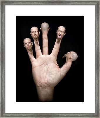 Finger Puppets Framed Print by Petri Damsten