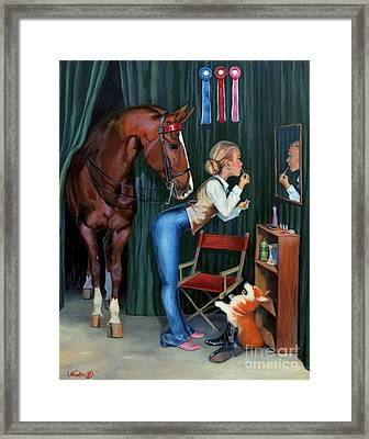Finishing Touches Framed Print by Jeanne Newton Schoborg