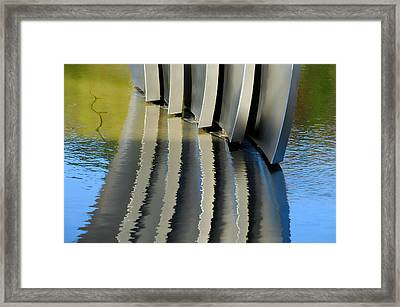Fins Framed Print by Donna Blackhall