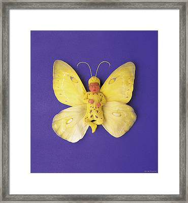 Fiona Butterfly Framed Print by Anne Geddes