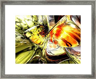 Fire And Desire Abstract Framed Print by Alexander Butler