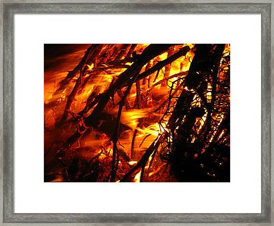Fire And Ice Framed Print by Brittany H