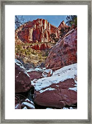 Fire And Ice Framed Print by Christopher Holmes
