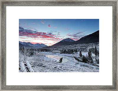 Fire And Ice Framed Print by Ed Boudreau
