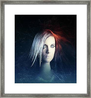 Fire And Ice Portrait Framed Print by Johan Swanepoel