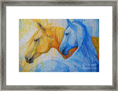 Fire And Ice Framed Print by Silvana Gabudean