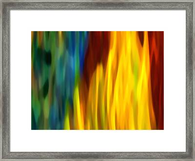 Fire And Water Framed Print by Amy Vangsgard