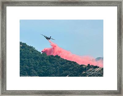 Fire Bomber Drop Framed Print by Tommy Anderson