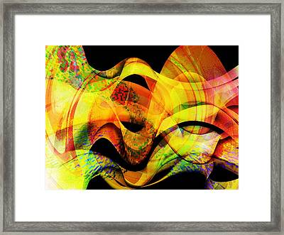 Fire Framed Print by Contemporary Art