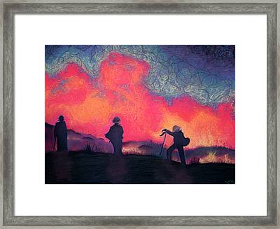 Fire Crew Framed Print by Joshua Morton