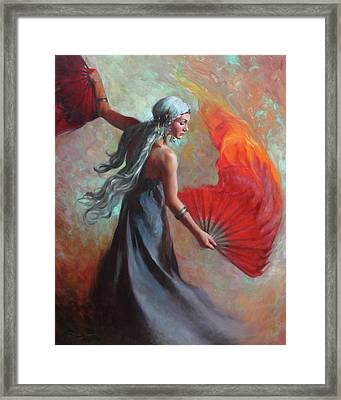 Fire Dance Framed Print by Anna Rose Bain