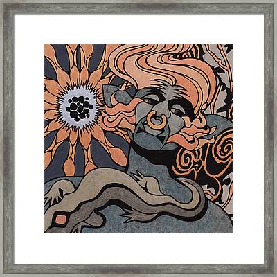 Fire Elemental, Metallic Framed Print by Susan Lishman