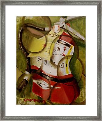 Tommervik Abstract Fire Extinguisher Art Print Framed Print by Tommervik