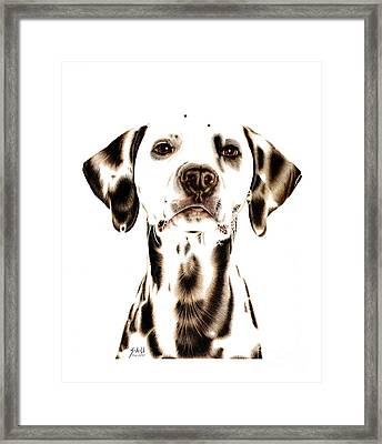 Fire Fighter's Best Friend Framed Print by Sheryl Unwin