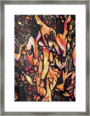 Fire Fox Framed Print by Alexander Chachanidze