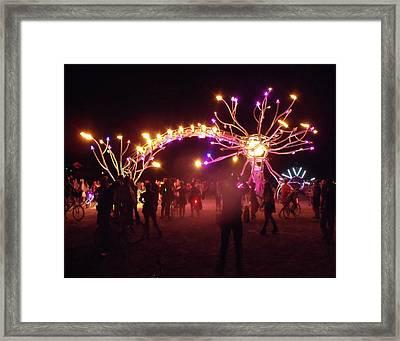 Electric Fire Garden Burning Man 2009 Framed Print by Zen WildKitty