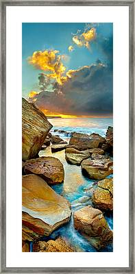 Fire In The Sky Framed Print by Az Jackson
