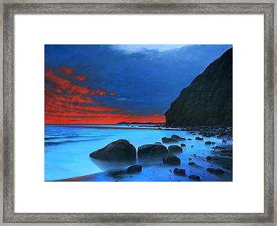 Fire In The Sky Dana Point Framed Print by Cliff Wassmann