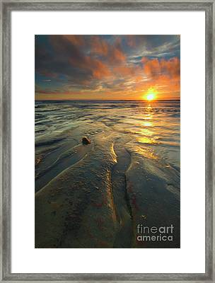 Fire In The Sky Framed Print by Mike Dawson