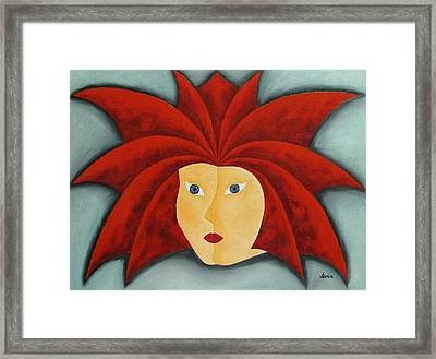 Fire Inside Me  Framed Print by Marianna Mills
