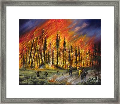 Fire Line 1 Framed Print by Ricardo Chavez-Mendez