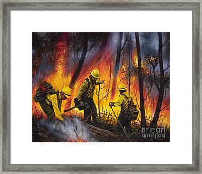 Fire Line 2 Framed Print by Ricardo Chavez-Mendez