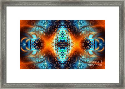 Fire Of Desire Framed Print by Ian Mitchell
