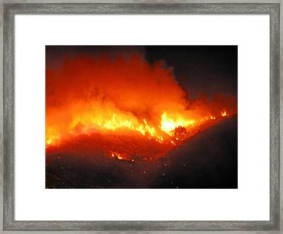 Fire On Signal Hill Framed Print by Michael Durst