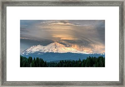 Fire On The Mountain Framed Print by Loree Johnson