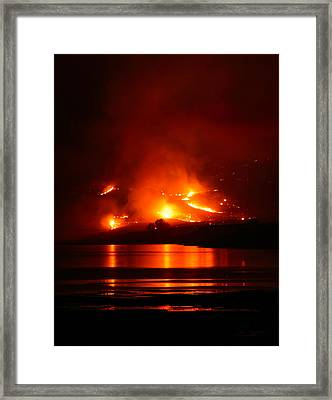 Fire On The Mountain Vertical Framed Print by TL  Mair