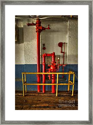 Fire Proof The Mary Leila Cotton Mill 1899 Framed Print by Reid Callaway